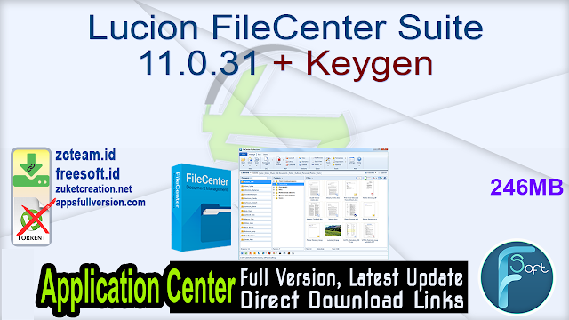 Lucion FileCenter Suite 11.0.31 + Keygen_ ZcTeam.id