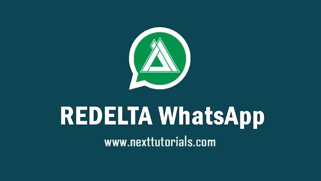 REDELTA WhatsApp v3.7.2 Apk Latest Version Android,Install Aplikasi WA REDELTA Anti Banned Terbaik 2021,tema wa mod keren terbaru 2021,download whatsapp mod anti blokir,
