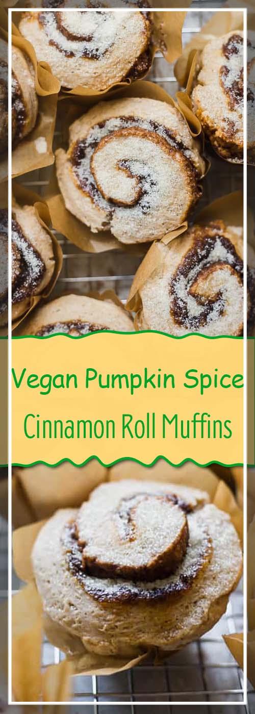 Vegan Pumpkin Spice Cinnamon Roll Muffins Recipe