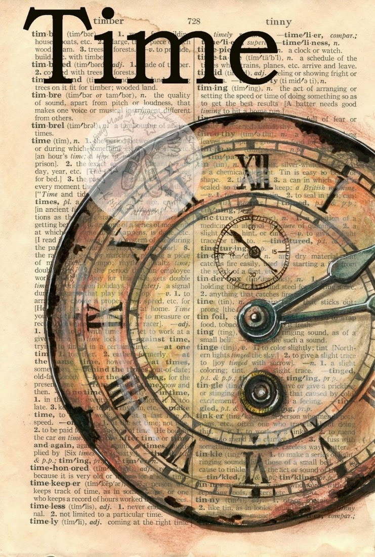 01-Clock-Face-Kristy-Patterson-Flying-Shoes-Art-Studio-Dictionary-Drawings-www-designstack-co