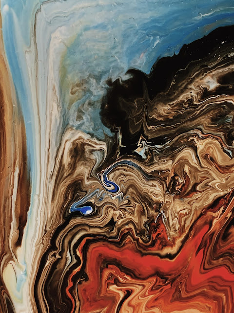 paint swirls on canvas, paint pours from Pexel