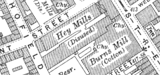 Hey Mills, OS map, 1928.