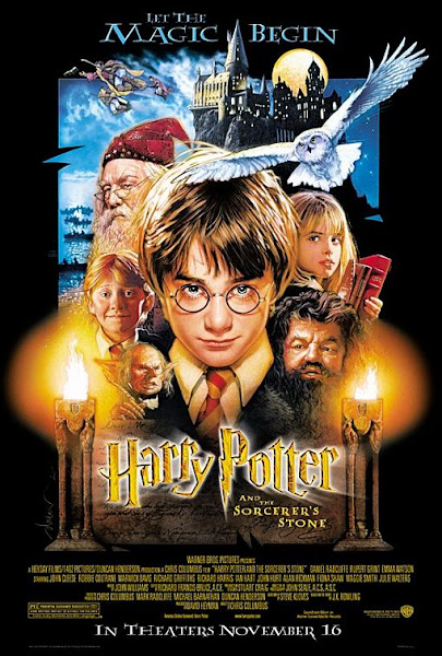 Poster of Harry Potter and the Sorcerer's Stone 2001 Dual Audio 1080p Dual Audio BluRay ESubs