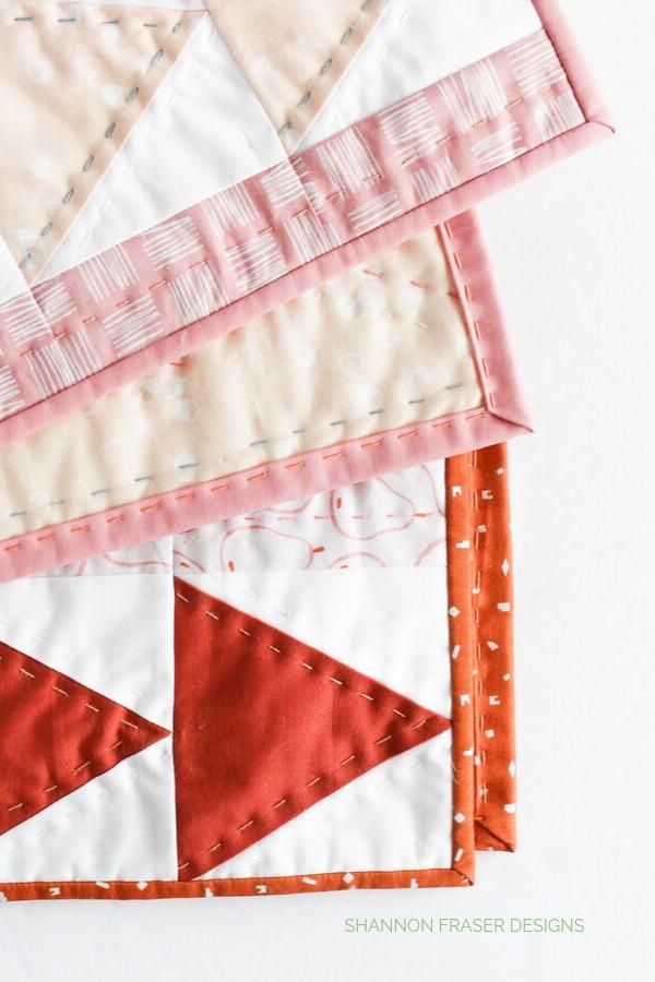 Flight Plan Quilt | Big Stitch Hand Quilted Binding | Quilt Binding Tutorial Part 3 | Shannon Fraser Designs #bigstitchquilting #handquilted