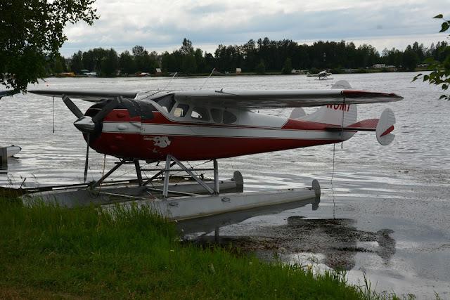Lakefront Hotel Anchorage floating plane