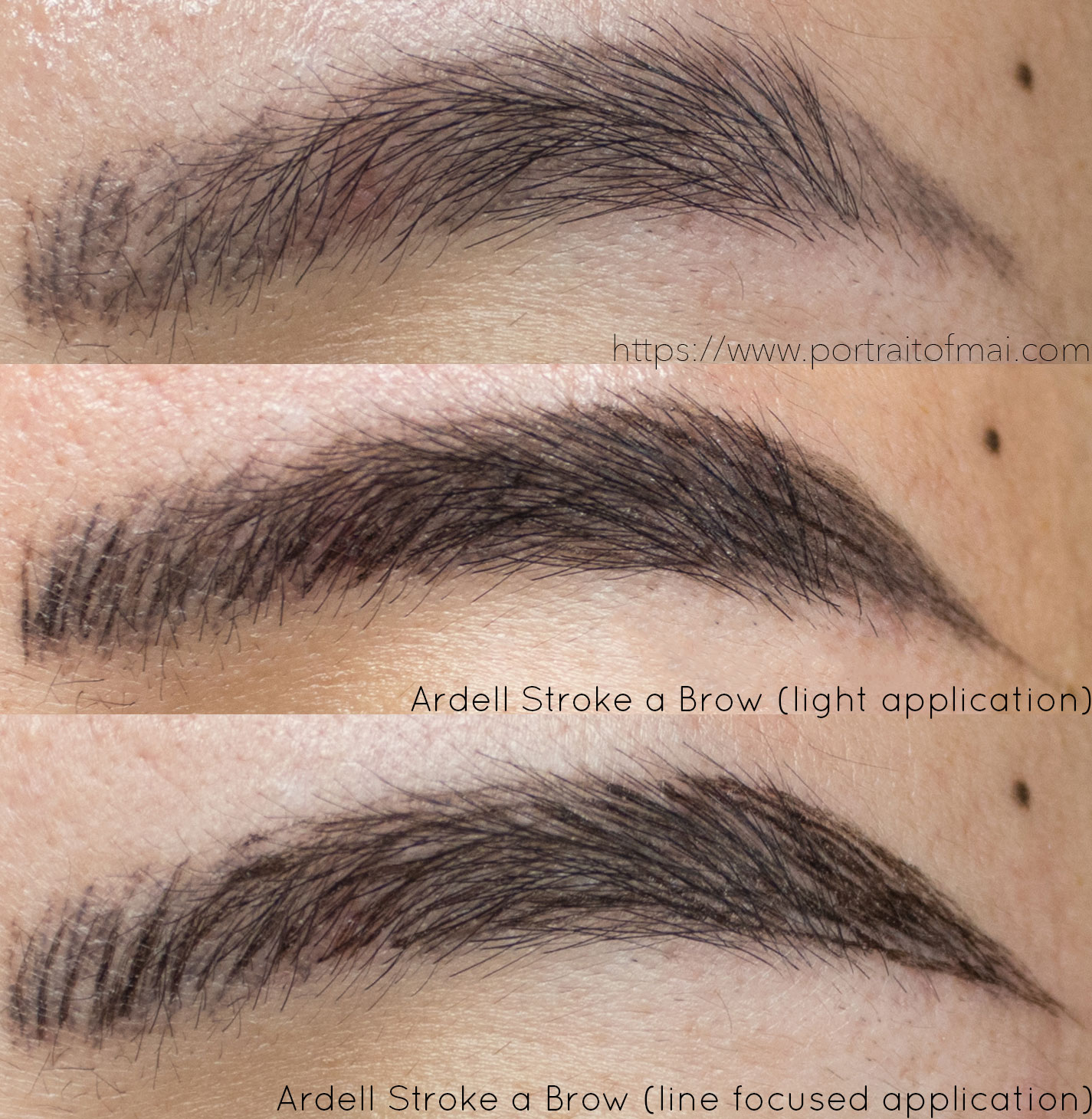 Ardell Stroke a Brow in Soft Black Swatch