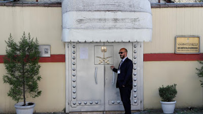"The infamous doors of the Saudi consulate in Istanbul ""Reuters"""