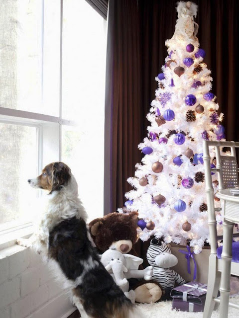 Decor natalina roxo e lilás tendência do momento