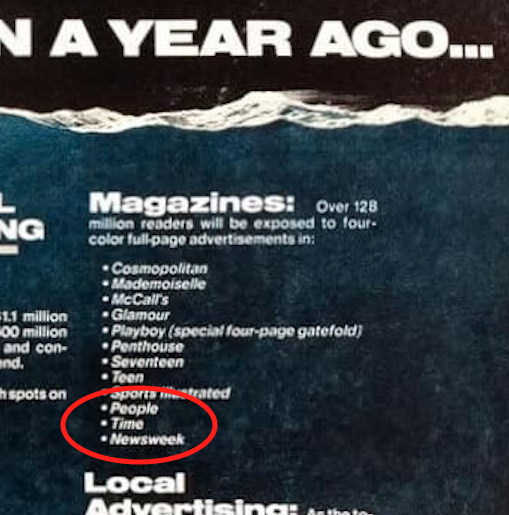 Newsweek was also one of The Deep's promotional partners.
