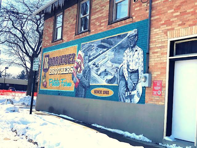 Delightful mural commemorating the Rodriguez Potato Farm.