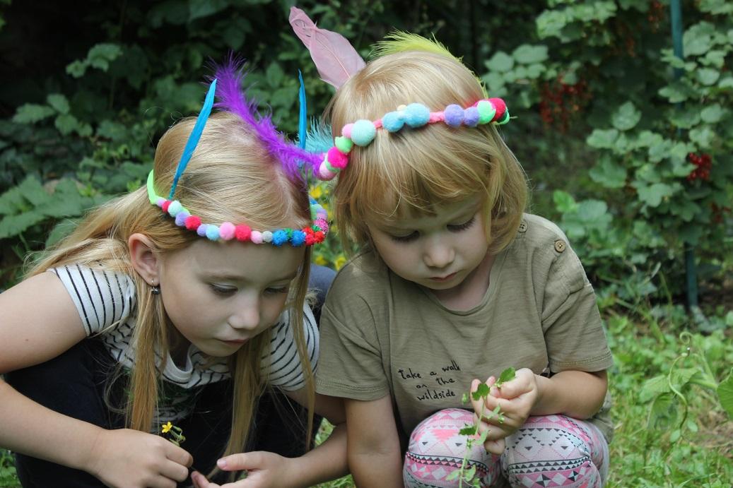 Tvoření s dětmi - čelenky pro víly