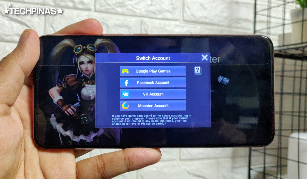 Mobile Legends Bang Bang Log-in Page, Mobile Legends Switch Account