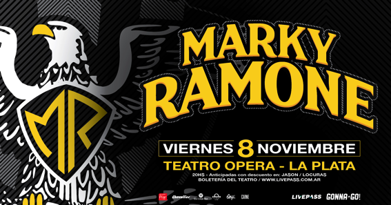 Marky Ramone regresa a la Argentina con un único show en el Teatro Opera de La Plata
