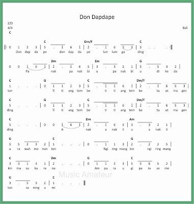 not angka lagu don dapdape