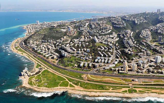 Oeste da cidade de Haifa - Israel