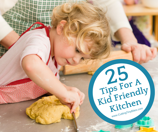 25 Tips for a Kid Friendly Kitchen. Organization, supplies, and strategies for cooking with kids.