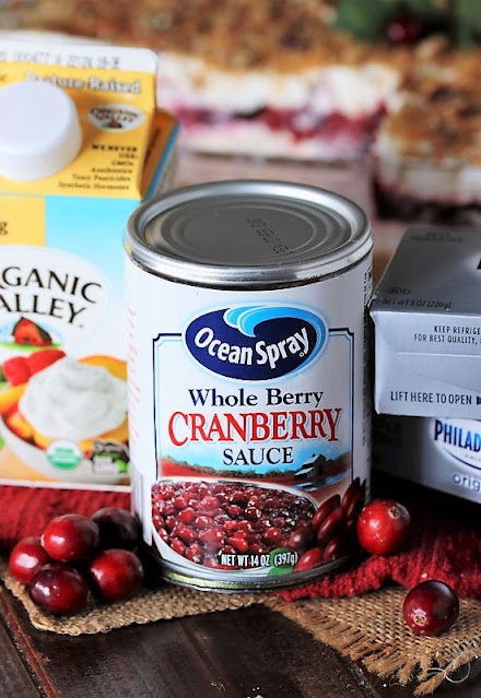No-Bake Cranberry Yum Yum Ingredients Image
