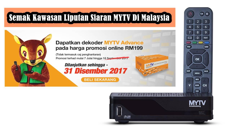 Semak Kawasan Liputan Siaran MYTV Di Malaysia