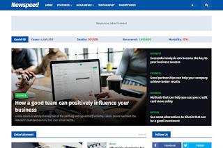 Download Newspeed Premium Blogger Template Free