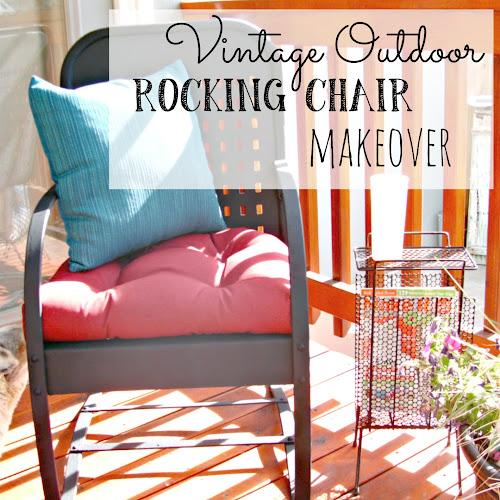 Vintage Outdoor Rocking Chair Makeover - Weekend Yard Work Series
