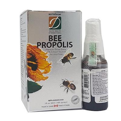 Keo ong xịt họng Nutridom Premium bee propolis của Canada