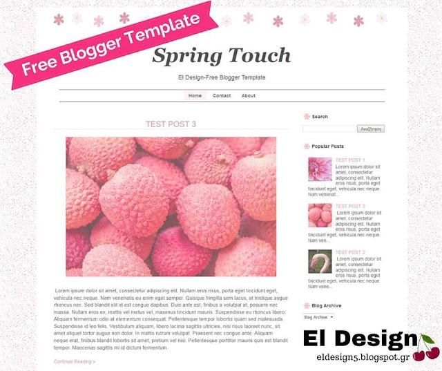 Δωρεάν πρότυπο Blogger - FREE blogger template