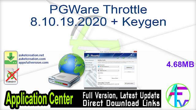 PGWare Throttle 8.10.19.2020 + Keygen