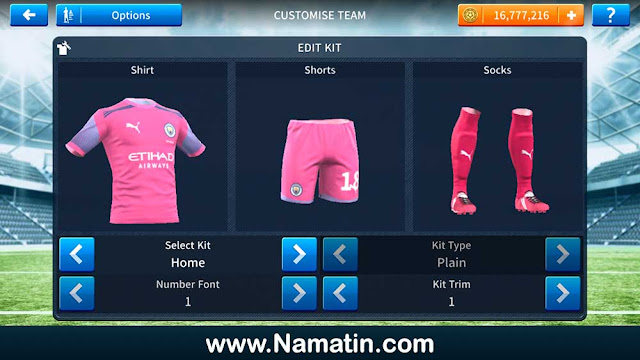 Seragam Dream League Soccer Manchester City