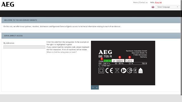 Serviceseite Garantieverlängerung AEG Powertools