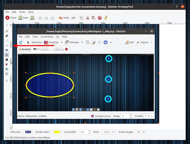 Shutter editing screenshots