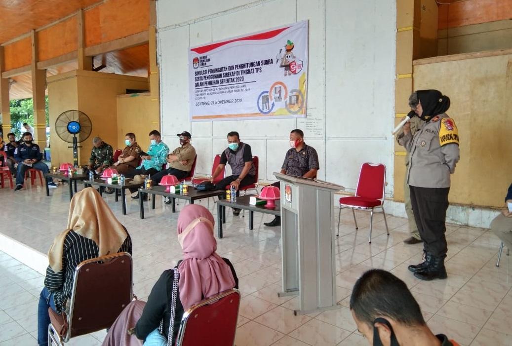 Polres Kepulauan Selayar Warning Penyelenggara Pilkada Agar Berkoordinasi Dengan Lembaga Terkait