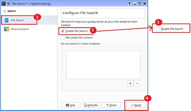 Configure File Search for Dolphin File Manager
