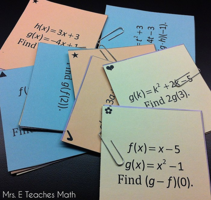 Function Operation and Composition Sum Em Activity - free download  |  mrseteachesmath.blogspot.com