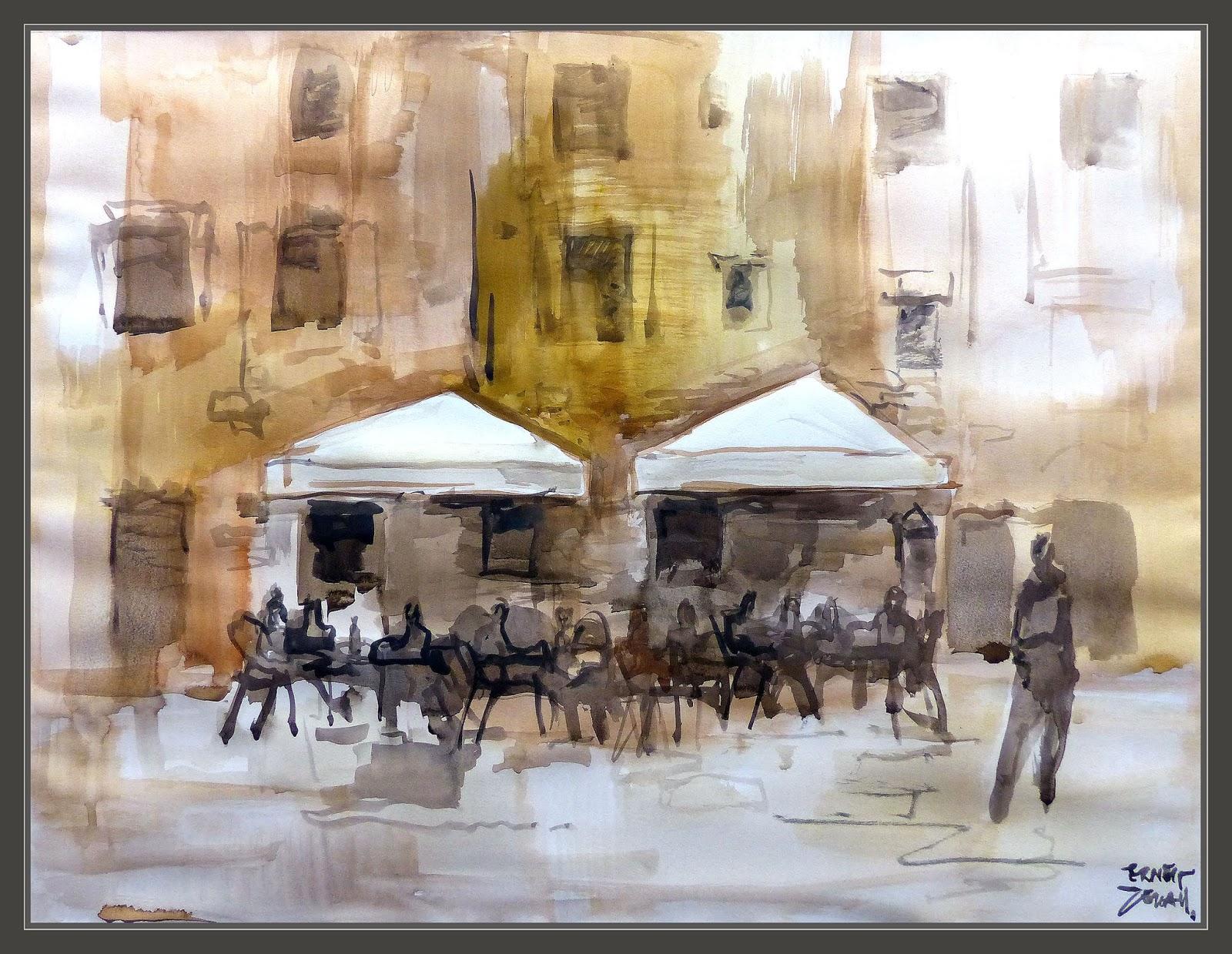 Ernest Descals Artista Pintor Venecia Pintura Acuarelas