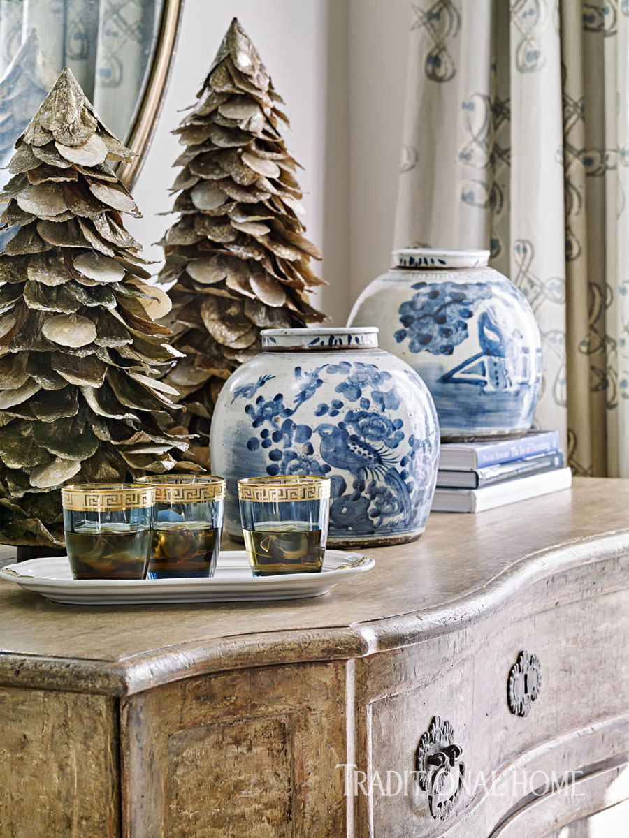image result for beautiful room decorated blue for Christmas elegant sophisticated interior design