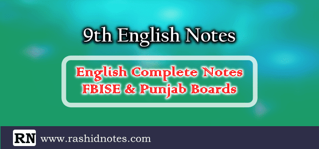 9th Class English Notes Complete Book Free Download