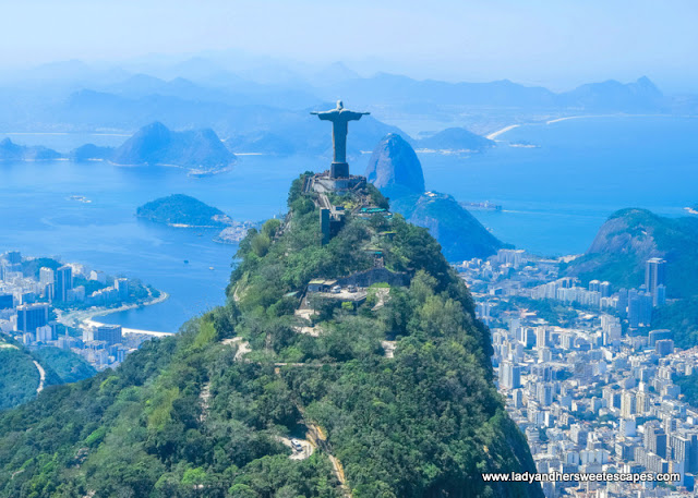 Christ the Redeemer helicopter view