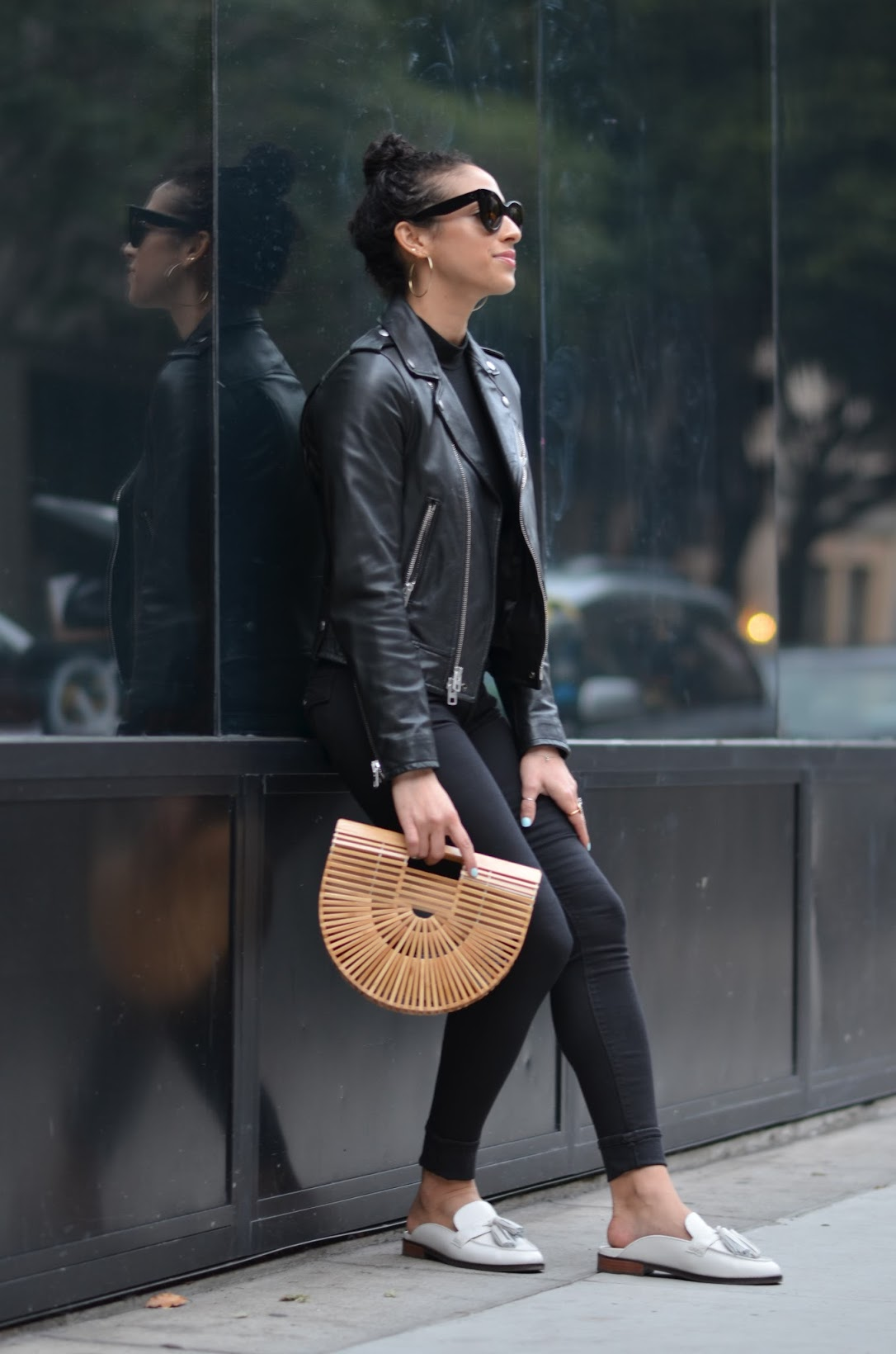 Allergic to Vanilla- San Francisco Style blog, all black outfit, how to wear all black, chic black outfit, Coach leather jacket