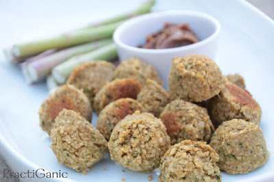 Vegan Thai Meatballs with Spicy Peanut Sauce