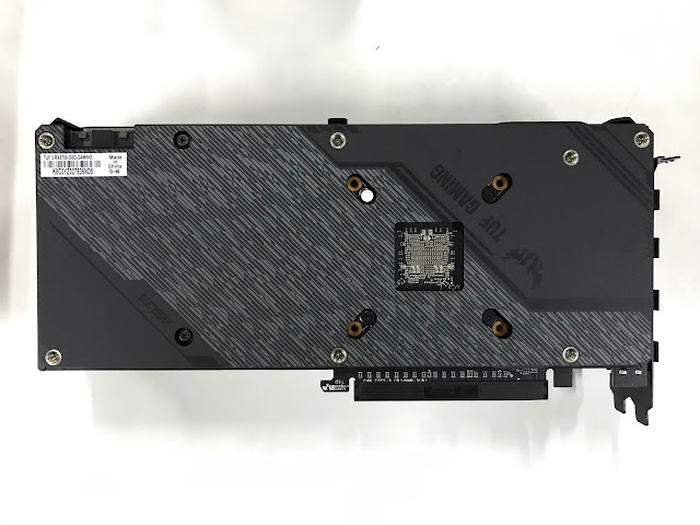 ASUS TUF Gamimng X3 RX 5700 backplate
