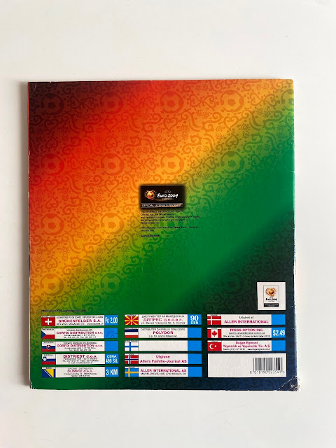 Quarta di copertina album Euro 2004