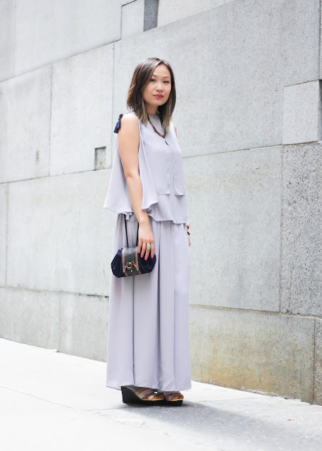 How to Look Sophisticated Gray Two-Piece from Dezzal
