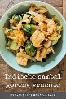 Indische sambal goreng groente