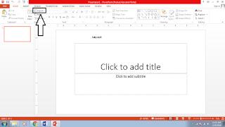 cara membuat slide presentasi power point 2013