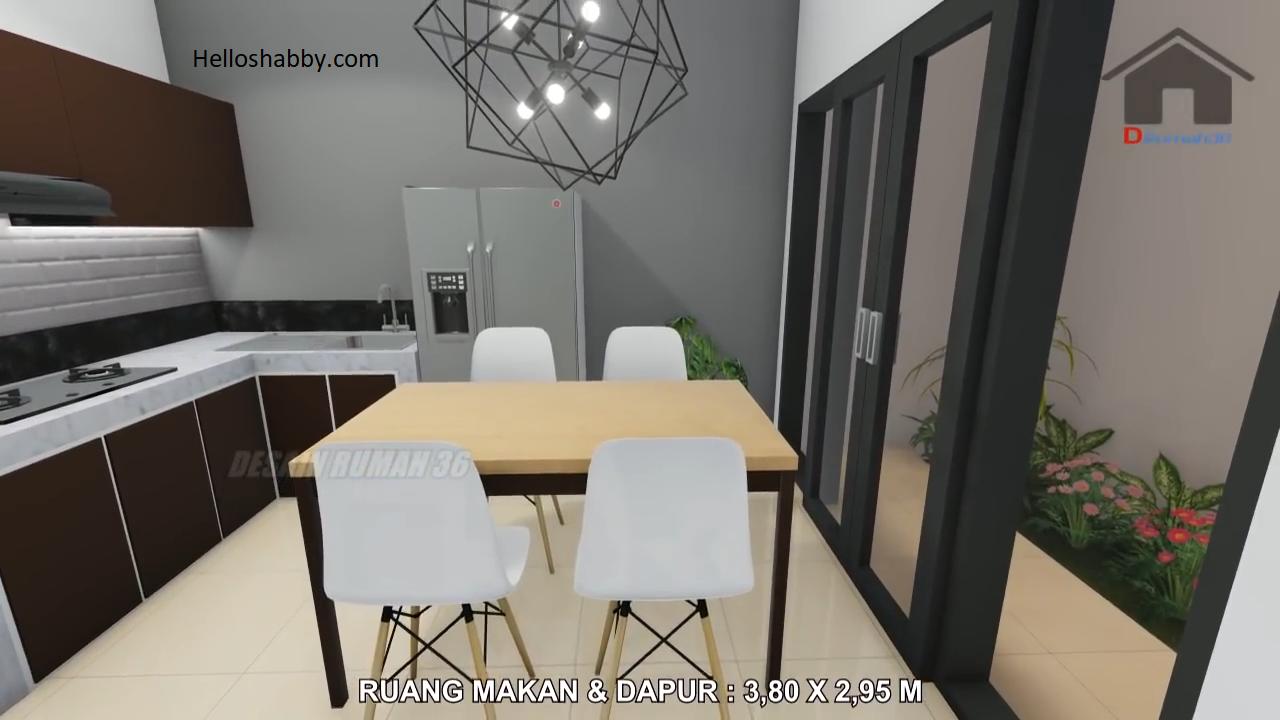 Desain Rumah Modern Ukuran 7 x 14 M, Dua Lantai dengan 4 ...
