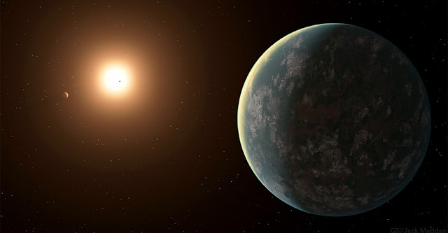 Only 31 light-years away from Earth, the exoplanet GJ 357 d catches light from its host star GJ 357, in this artistic rendering. Jack Madden/Cornell University