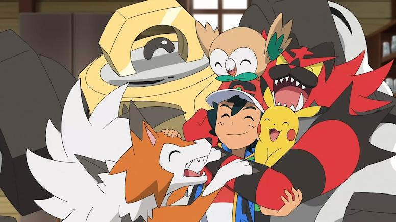 Equipe Ash em Alola Jornadas Pokémon