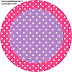 Pink, Purple and White Polka Dots: Free Printable Cupcake Toppers and Wrappers.