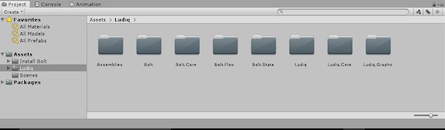 project window of unity editor