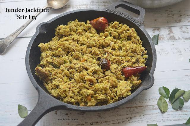 Idichakka Thoran Recipe | Tender Raw Jackfruit Stir Fry | Kerala Recipes